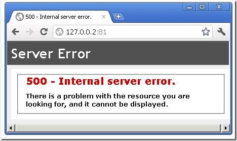 ارور پیغام خطا HTTP 500 Internal Server Error